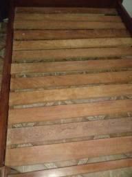 Título do anúncio: Cama casal madeira Nobre Imbuia