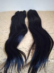 Vendo 2 telas inteiras de cabelo Remy 100% Humano novo