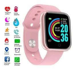 Relógio inteligente smartwatch D20 Rosa (House eletronics)