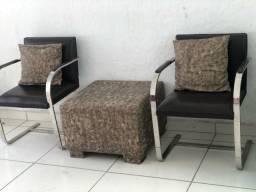 Conjunto de cadeiras Inox