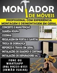 Título do anúncio: MONTADOR DE MOVEIS EM GERAL