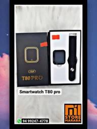 O Relógio Smartwatch T80 a tela inteira é touch-screen!