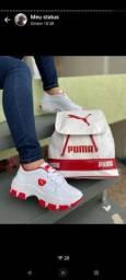 Título do anúncio: Kit bolsa mais tênis puma