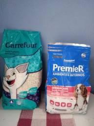 Título do anúncio: Areia para gatos e ração para cachorros de porte pequenos