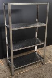 Estantes lisas e gradeadas em Aço Inox - Sob medida e a pronta entrega
