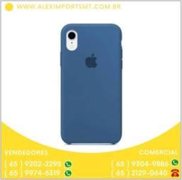 Capinha Case Silicone Iphone Xr Azul Escuro Barata