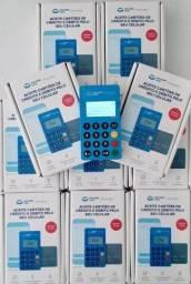 Caixa com 20 Maquininhas, Máquina de Cartão Point Blue para revendedores
