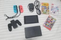 Nintendo Switch 32 gb com 3 jogos inclusos