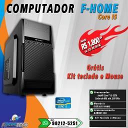 Computador  Intel Core i5 , 8gb de Ram Ddr3 1600MHz, SSD 240GB, Kit Teclado e Mouse.