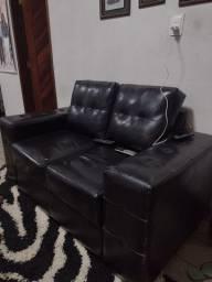 Título do anúncio: Jogo de sofá preto