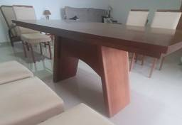 Título do anúncio: Mesa jantar com 6 cadeiras madeira maciça