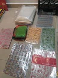 Lote sacos plástico para embalagens diversas ilustrações