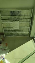 Janela de alumínio para banheiro c/vidros nova