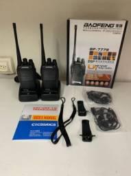 Rádio comunicador HT BF777s 2 a 5km 16 canais de frequência