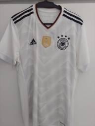 aec18eb11e Camisa Seleção Alemanha Home 2017 s nº Torcedor Adidas Masculina - Branco e  Preto