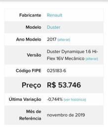 Duster Dynamic 1.6 mecânico 2017 - 2017