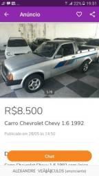 Chevy 500 pra trocar em moto ou carro fechado! - 1992