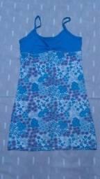 Vestido azul curtinho de malha