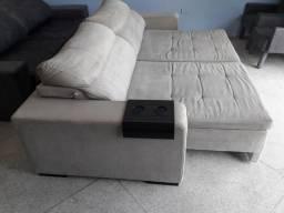 Sofá retrátil reclinável 6 lugares ENTREGO