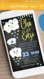 Convite Digital para Whatsapp baby cha