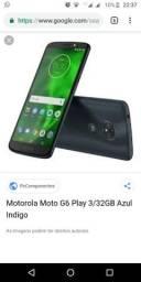 V/T Moto g6 play 32 gb, troco em iphone