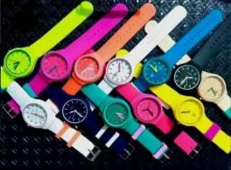 Lote Relógios Femininos Adidas 10 Unidades Silicone Coloridos Para Revenda 98df86199d