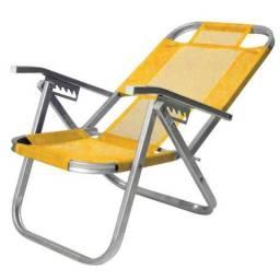 Cadeira De Praia Dobrável Em 5 Posições