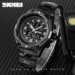 Relógio Masculino Analógico Digital SKmei pulseira de aço