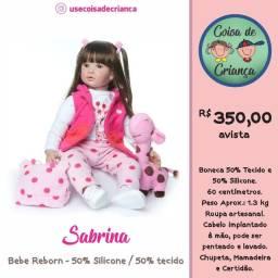 Bebê Boneca Reborn Sabrina 60 cm