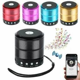 Caixinha Som Portátil Bluetooth Mp3 Fm Sd Usb Hifi Wireless Pendrive