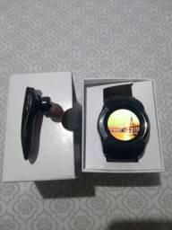 Relógio com funções de celular+fone de ouvido via bluetooth