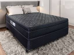 Cama box + colchão portobel casal 138x188x30