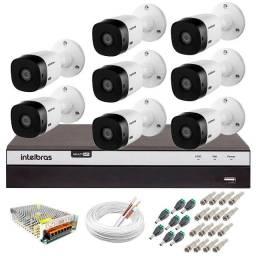 Kit Intelbras 8 Cameras Full HD
