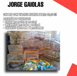 Título do anúncio: GAIOLAS E ACESSÓRIOS (DIVERSOS MODELOS.)