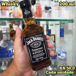 Título do anúncio: Miniatura Whisky Jack Daniels Tenesse N07 - 200ml - Original e Lacrada