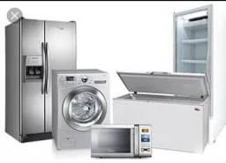 Manutenção de máquina de lavar e geladeira