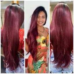 Título do anúncio: Lace ruiva cabelo Fibra futura