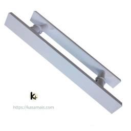 Puxador Porta 30cm Branco Plano