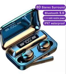 Fone de ouvido bluetooth 5.0 Impermeável a Pronta Entrega