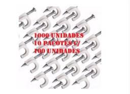 Título do anúncio: ixador De Fios P/ Cabo Coaxial Drop, Cabo Utp 5mm 1.000un