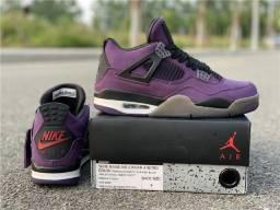 Título do anúncio: Travis Scott x Air Jordan 4 Purple Suede