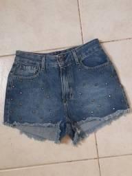 Título do anúncio: Short Jeans Novo Cintura Alta