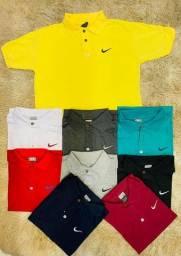 kit 5 camisetas  polo masculinas atacado algodão promoção revenda