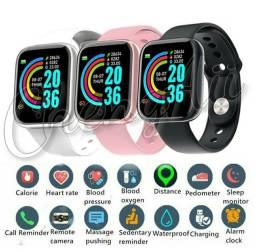Y68 Smartwatch à Prova D água USB Esportivo /com Monitor de Frequência Cardíaca