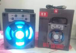 Caixinha De Som Bluetooth Grasep D-bh1018 10w Fm Sd Usb Tws