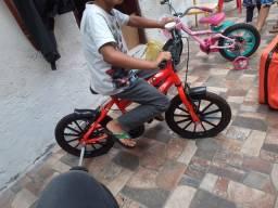Bicicleta Infantil Mormaii Aro 16 Next Masculino Neon - Laranja<br><br>