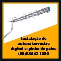 Título do anúncio: Antena espinha de peixe-antena terrestre-antena digital