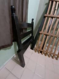Cama de solteiro 100% madeira