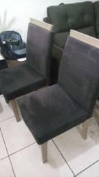 Título do anúncio: Cadeiras estofadas cor marrom