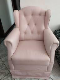 Título do anúncio: Cadeira de Amamentação rosa